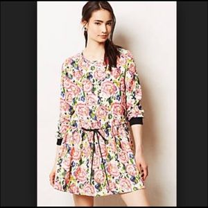 Anthropologie Floral Sweater-Like Dress
